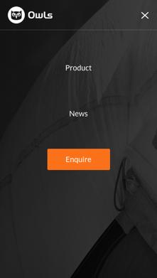 Owls website mobile screenshot of menu navigation