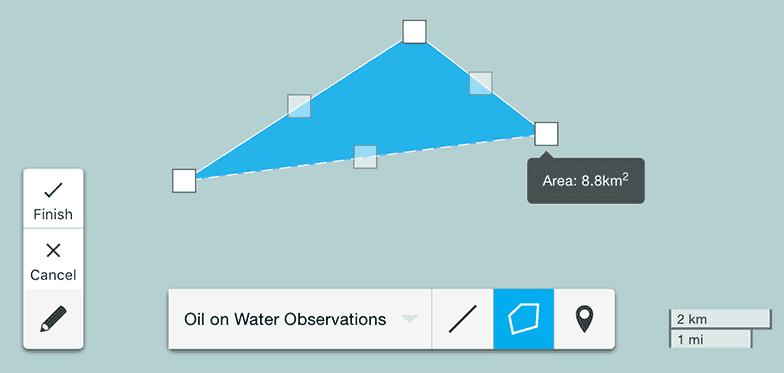 Aerial Surveillance Map UI