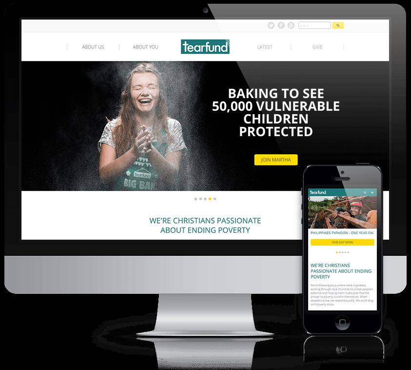 Tearfund website screenshot