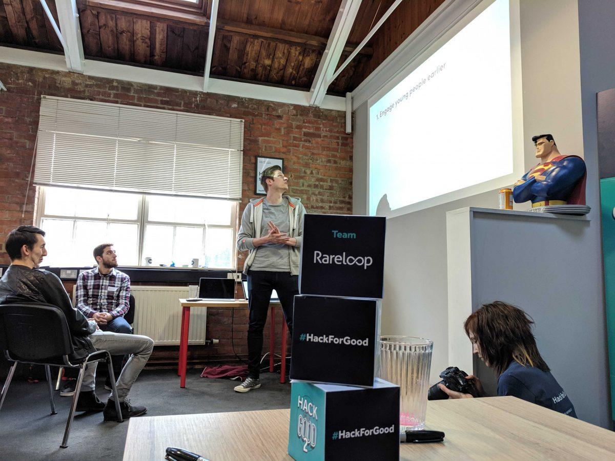 Adam presenting our app