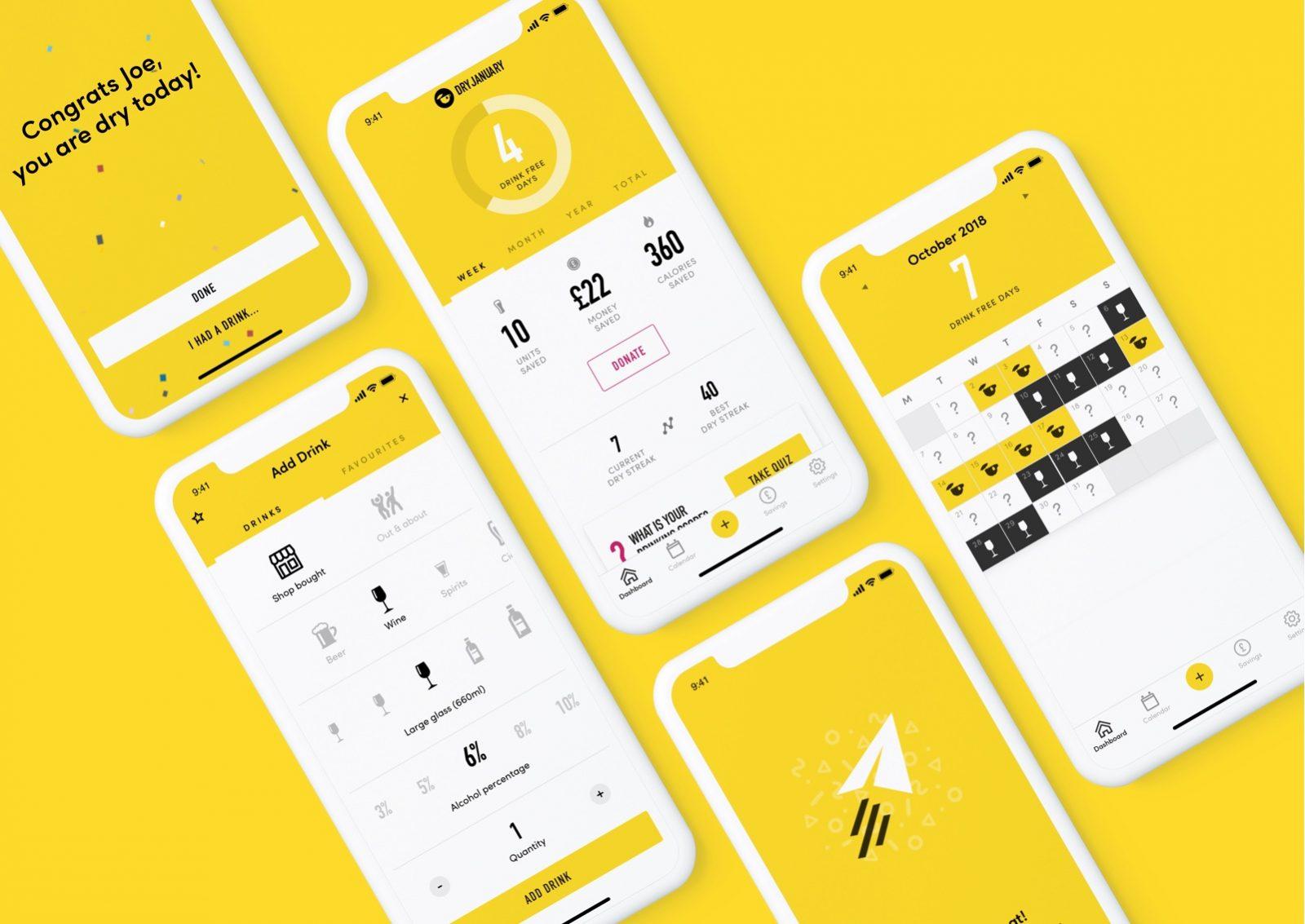 Dry January App Design