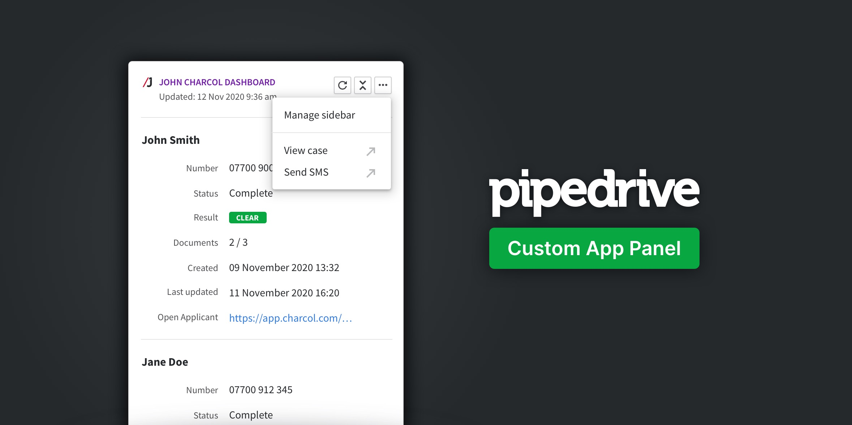 John Charcol Custom Pipedrive App Panel