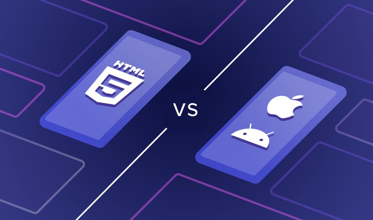 Hybrid apps versus native apps visualisation