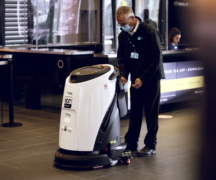ICE technician using the Eco Bot 50