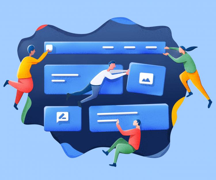 Page Builder Illustration